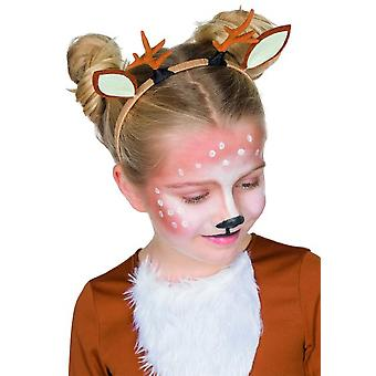 Reindeer headband with antlers and ears for children accessory Carnival animal costume deer
