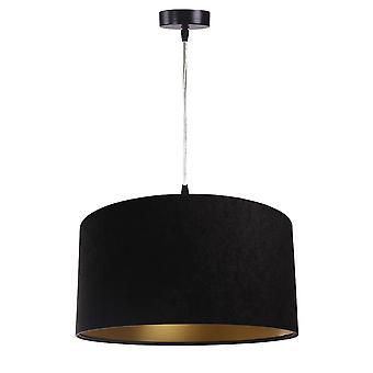 Suspension luminaire Jalua P velours noir & or Ø 40 cm 10628