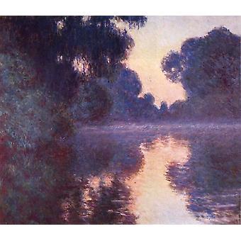 Arm der Seine bei Giverny bei Sunrise, Claude Monet