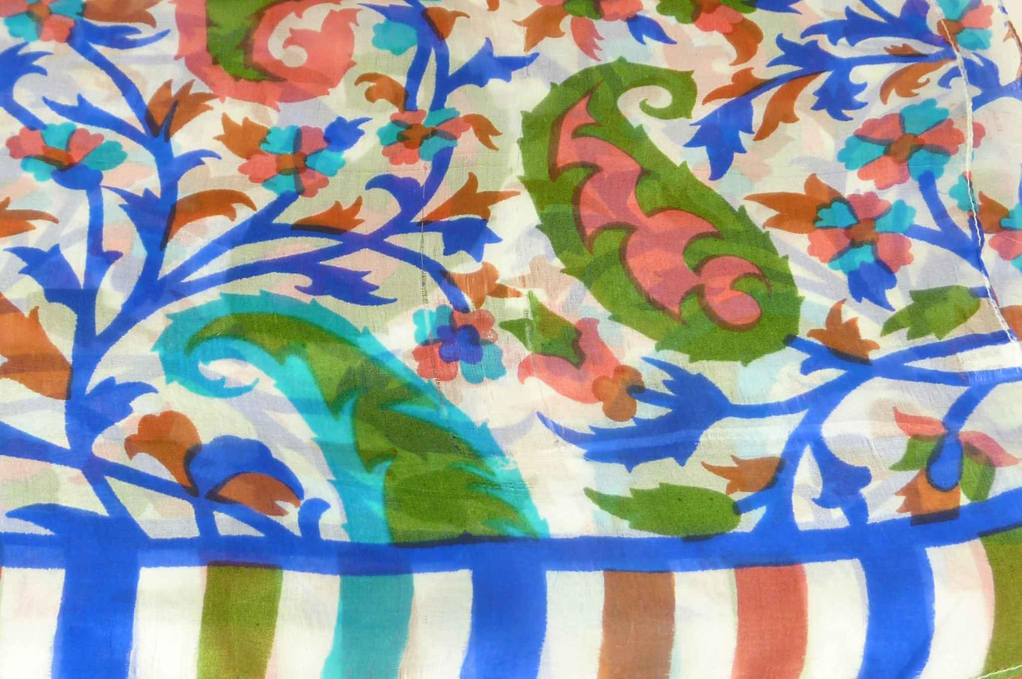 Mulberry Silk Contemporary Long Scarf Mooli French Blue by Pashmina & Silk
