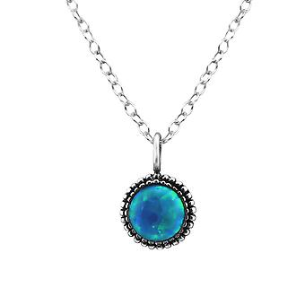 Round - 925 Sterling Silver Jewelled Necklaces - W28589X