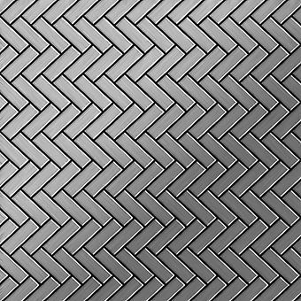 Metal mosaic Stainless Steel ALLOY Herringbone-S-S-B