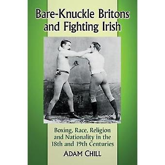 Sem luvas britânicos e irlandeses a lutar - boxe - corrida - religião e