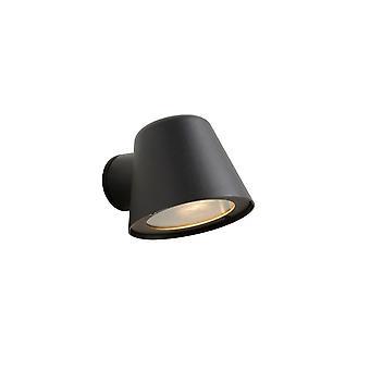 Lámpara de pared de Lucide Dingo-LED moderno redondo de aluminio antracita