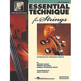 Essentiële techniek voor snaren (essentiële elementen boek 3): Cello (tussentijdse techniek Studies)
