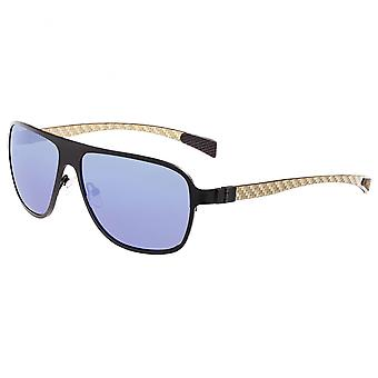Breed Atmosphere Titanium And Carbon Fiber Polarized Sunglasses - Black/Blue