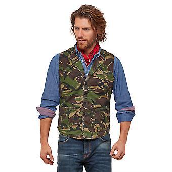 Joe Browns Mens Camouflage väst med fickor
