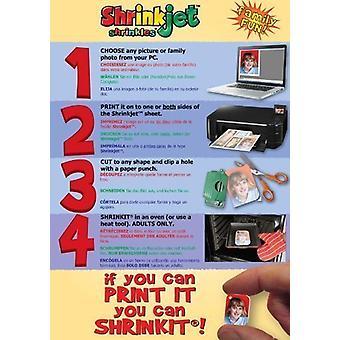Shrinkles Shrink Art A4 Pack Of 6 x Shrinkjet Plain White Sheets