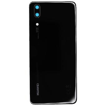 Genuine Huawei P20 - Battery Cover with Adhesive - Black - 02351WKS