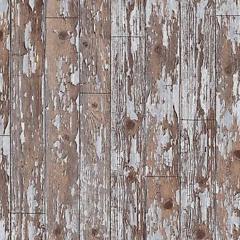 Arthouse stary wyblakły zakłopotany rustykalny kabiny drewna deski tapeta