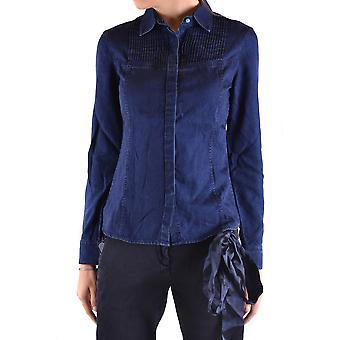 Jacob Cohen Ezbc054024 Männer's blau Stoff Shirt