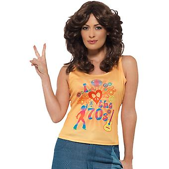 I love the 70s shirt top ladies accessory hippie costume
