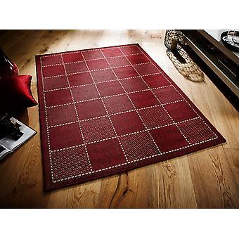 Überprüft Flatweave rotes Rechteck Teppiche Plain/fast schlicht Teppiche