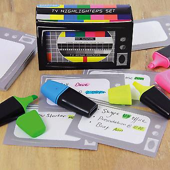 Retro Style Highlighter Set in the style of a old TV