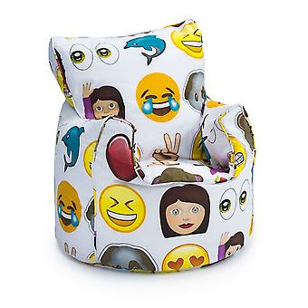 Per bambini emoji design riempito Bean Bag Chair