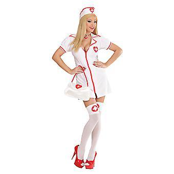 Krankenschwester Glam Erwachsenen Kleid Hut