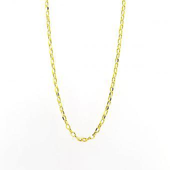 Eternity 9ct Gold 20'' Oval Diamond Cut Belcher Chain