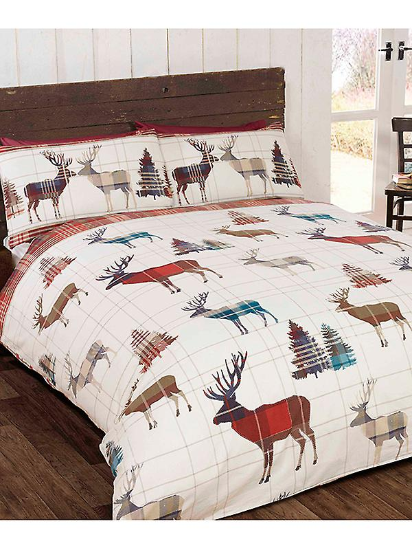 Woodland Stag Double Christmas Duvet Cover and Pillowcase Set