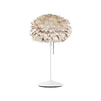 Umage Eos Table Lamp - Light Brown Feather Eos Mini/White Stand