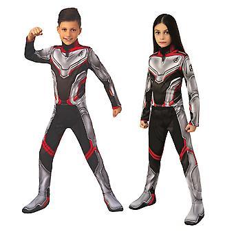 Avengers team Suit klassiske Marvel Endgame Super Hero barn drenge piger kostume