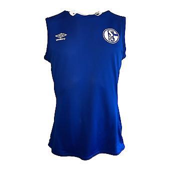 2019-2020 Σάλκε Umbro αμάνικο πουκάμισο (μπλε)
