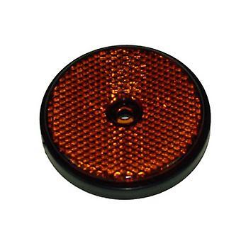 New Maypole Amber Round Reflectors Safety Travelling Orange