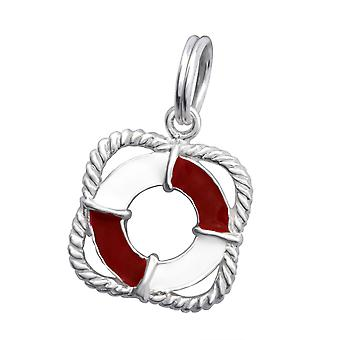 Life Buoy - 925 Sterling Silver Charms with Split ring - W29952X