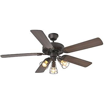 Wellindal Fan Without Light Aloha 132Cm Dark Brown 5 Blades