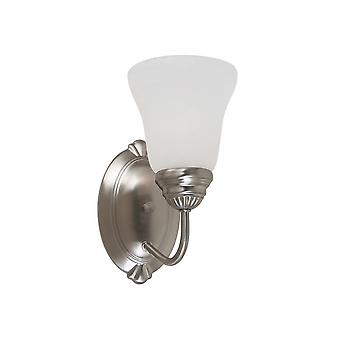 Sea Gull Lighting 44760962 Oaklyn 1-Light Bath Sconce Brushed Nickel Finish