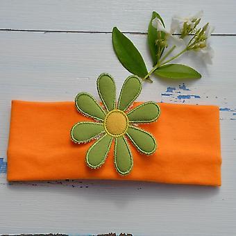 Flor verde funky hairband
