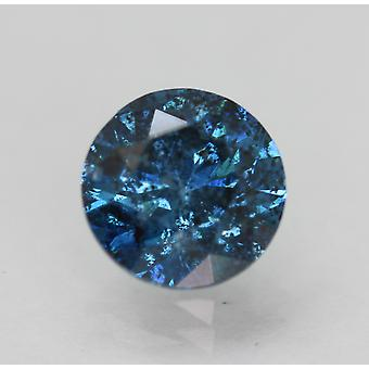 Cert 1.60 Carat Vivid Blue SI2 Rotondo Brillante Migliorato Naturale Diamante 7.26mm