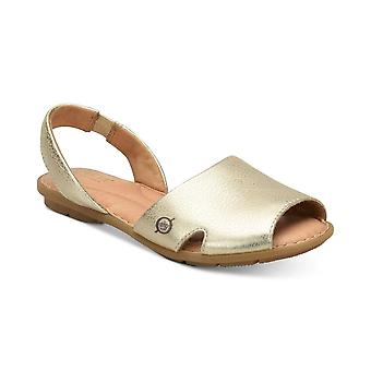 Born Womens KIBBEE Leather Peep Toe Beach Sport Sandals