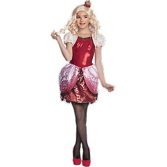 Girls age 5 - 12 Years Ever After High Apple White Fancy Dress Costume