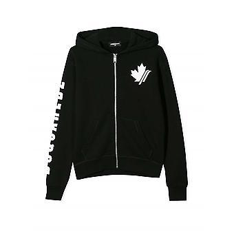 DSQUARED2 Kids Black Hooded Sweatshirt