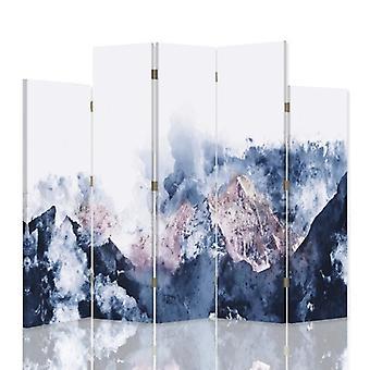 Dekorative Zimmerteiler, 5 Panels, Leinwand, Berglandschaft 2