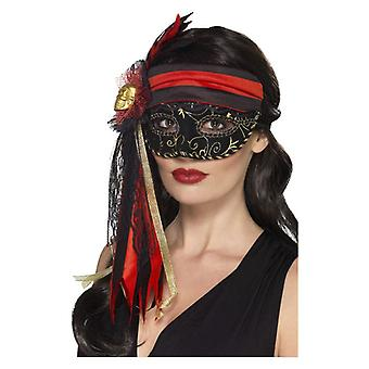 Womens Masquerade pirata Eyemask Fancy Dress acessório
