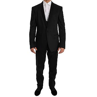 Black Shiny Style Martini Slim Fit Smoking Tuxedo Suit