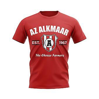 AZ Alkmaar perustettiin jalka pallo T-paita (punainen)