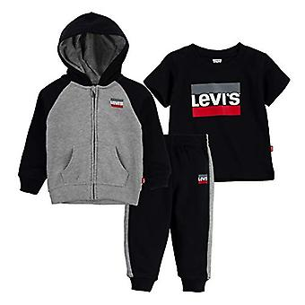 Levi's Baby Boys' Little Graphic T-Shirt, Hoodie and Joggers 3-Piece Outfit S...