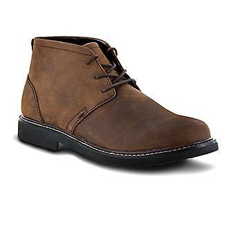 Apex Men's LT410M Chukka Boot, Brown, 8.5