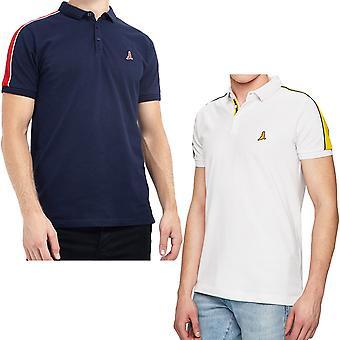 Brave Soul mens Goldin Kortärmad casual bomull tejpade Polo Shirt T-shirt topp