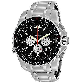 Oceanaut Men's Aviador Pilot Black Dial Watch - OC0112