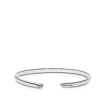 US Coast Guard Diamond Cuff Bracelet In Sterling Silver Design by BIXLER