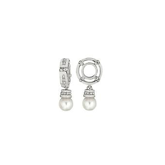 Storywheels Silver & Pearl Dangle Charm S082PRL