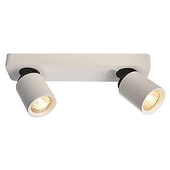 Lampe de plafond Librae Linear II GU10 2x50W L 322mm blanc 2-flame