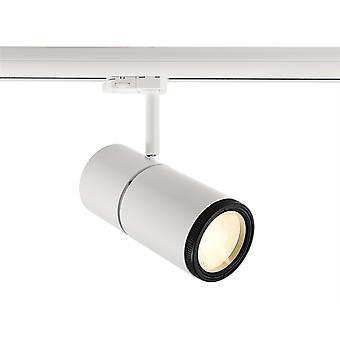 LED Rail Spotlight Pleione Focus II 34W 3000 K 25 °-60 ° 195x90mm wit IP20