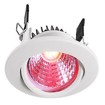 Lampe de plafond encastrée LED COB 68 RGBW 8.5W D 78mm blanc pivotant dimmable IP20