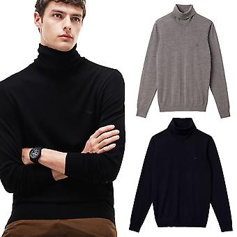 Lacoste Herren Turtleneck Roll Neck 100 % Wolle Jersey Pullover