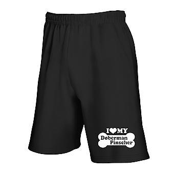 Black tracksuit shorts fun2006 i love my doberman pinscher