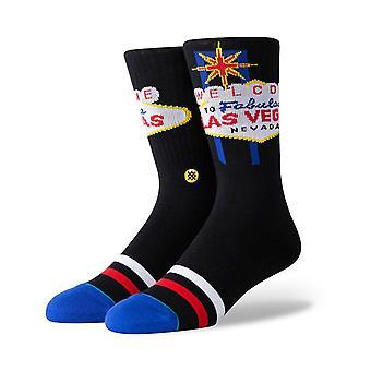 Stance Glitter Glitch Crew Socks in Black